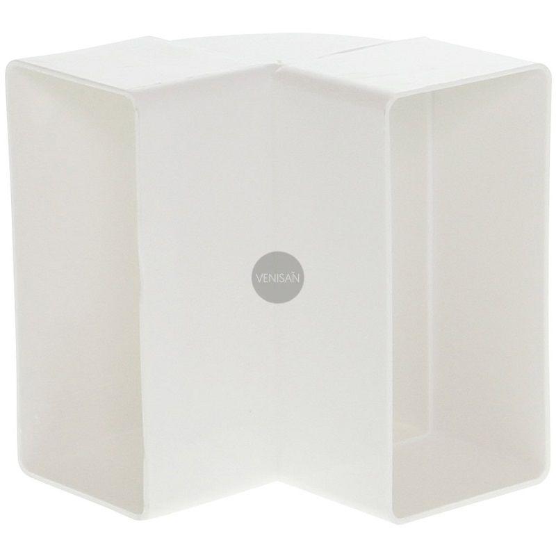 flachkanalbogen aus kunststoff vertikal 90 grad venisan. Black Bedroom Furniture Sets. Home Design Ideas